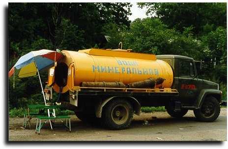 Продажа минеральной воды из цистерны