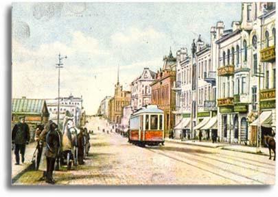 Первый трамвай на Светланской, 1912г.